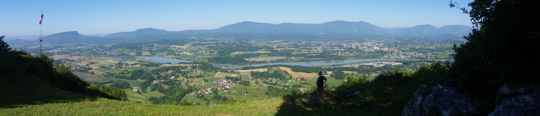 vue panoramique des bords du Rhône. Hameau des Ecassaz[/caption]/